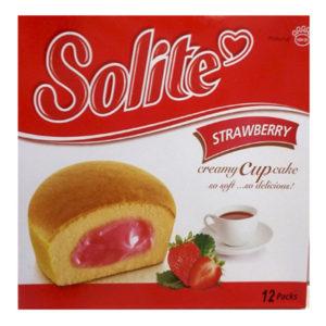 Бисквитные капкейки Solite 'Клубника'